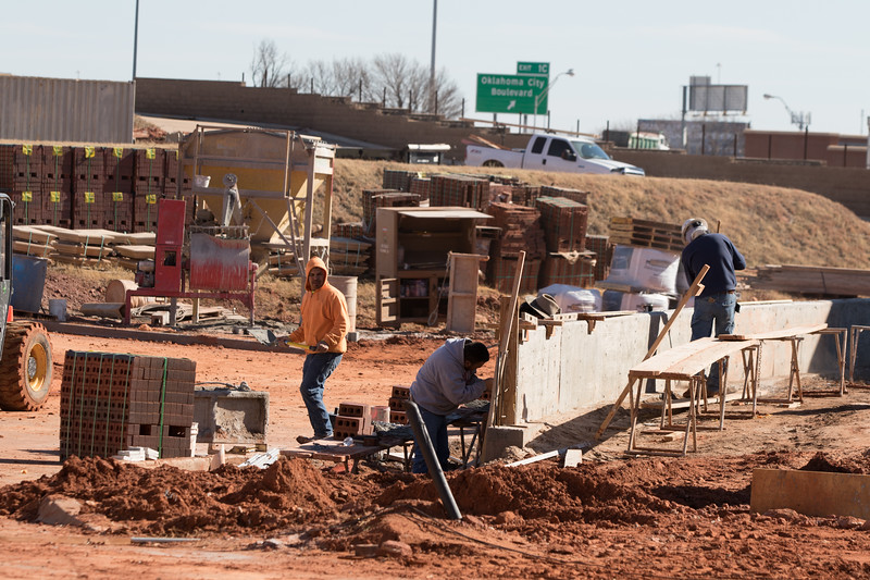 Construction of new home at the Hill at Bricktown located at 220 Russell M Perry Ave in Oklahoma City, OK.