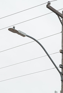 An example of a LED street light that OG&E will install as part of a pilot program in Oklahoma City.