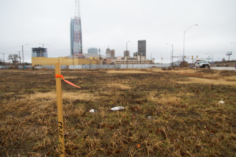 THe City of Oklahoma City is aquiring land at SW 5th Street between Broadway Ave and Shields Blvd for construction of a convention center.
