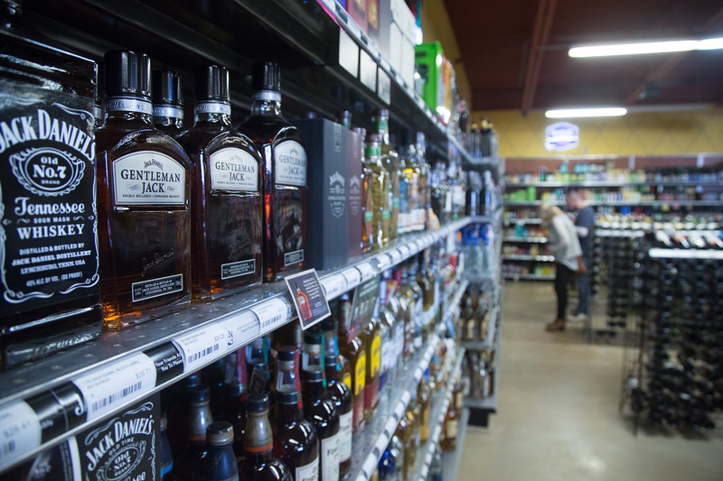 Drew's Wine and Spirits located at 209 Meline Dr. in Edmond, OK.