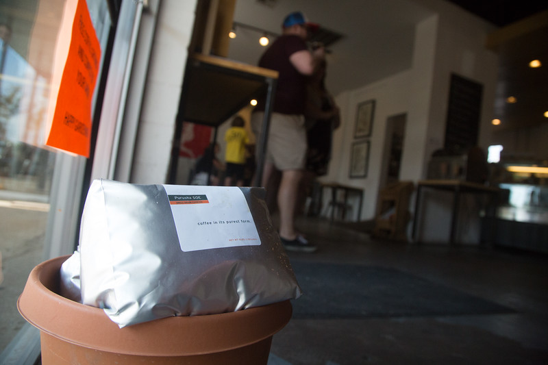 Elemental Coffee, located at 815 N Hudson Ave in Oklahoma City, is providing used coffee grounds to customers who want to use them for gardening.