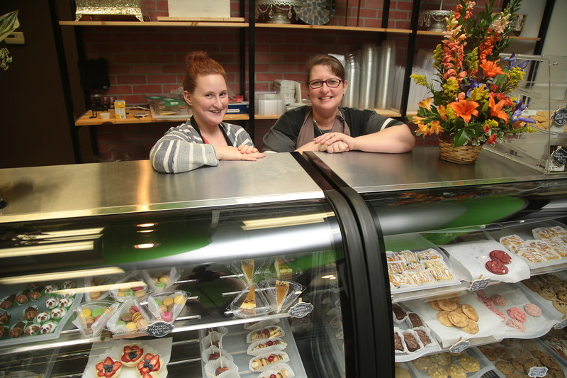 Manager Bethany Schneeberger with her mothe Janet Researy at the new location of Rosebeary Bakery in Northpark Mall located at 12100 N May Ave in Oklahoma City, OK.