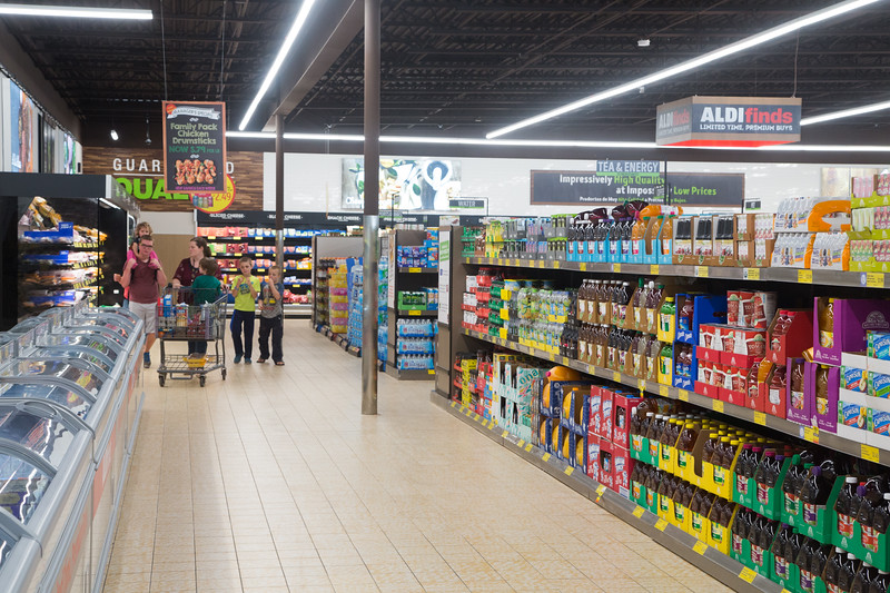 ALDI supermarket located at 13301 N Pennsylvania Ave in Oklahoma City, OK.