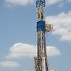 A Nomac Drilling rig operated by Chesapeak Energy located just north of the Cimmeron River near Kingfisher, OK.