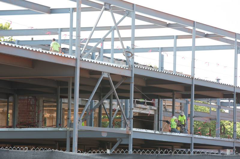 The new Oklahoma Department of Wildlife building is under construction at 1801 N Lincoln Blvd in Oklahoma City, OK.
