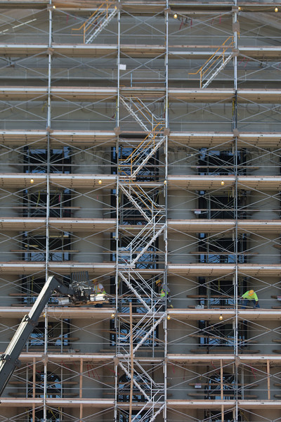 Ongoing work on the restoration of the Oklahoma State Capitol building located in Oklahoma CIty.