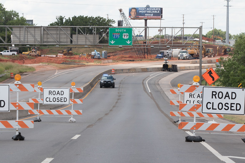 I-235 is closed for improvements between NW 36th Street nad I-44 in Oklahoma City, OK.