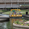 A Bricktown Canal tour boat in Oklahoma City, OK.