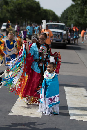 The 2017 Red Earth Festival Parade held in downtown Oklahoma City, OK.