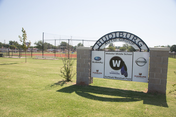 The baseball and softball fields at Webster Middle School in Oklahoma CIty, OK.