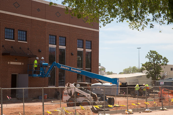 Construction on the campus of the University of Central Oklahoma in Edmond, OK.