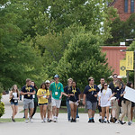 Students on the campus of the University of Central Oklahoma in Edmond, OK.