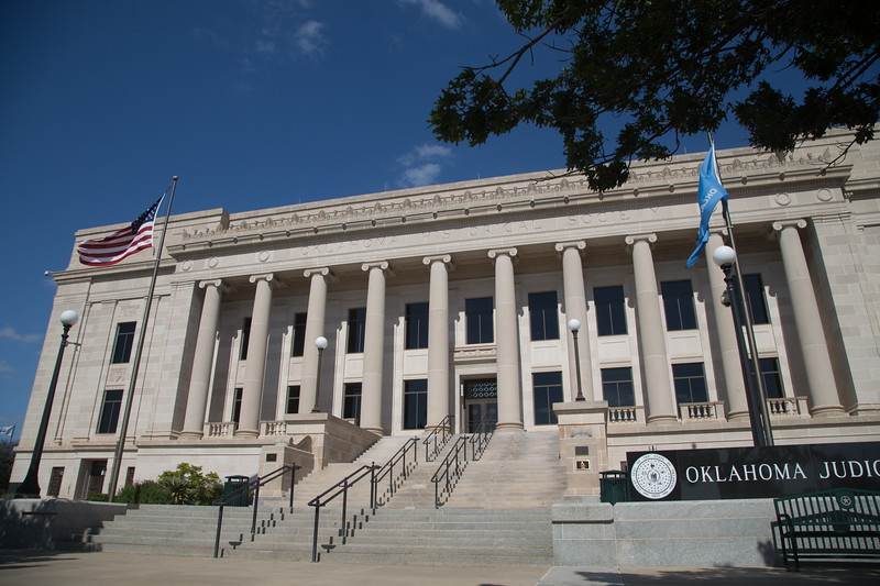 The Oklahoma Supreme Court Building located at 2100 N Lincoln Blvd in Oklahoma City, OK.