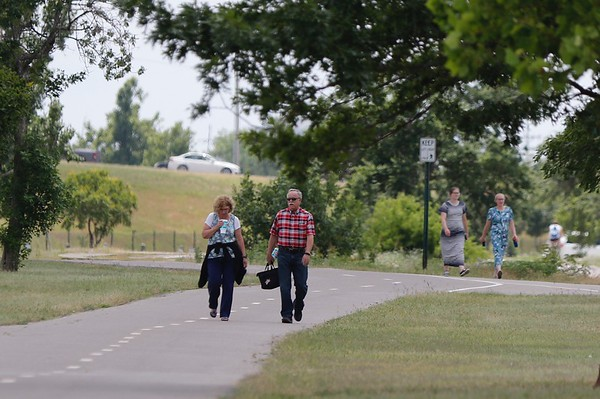 People at Lake Hefner located in northwest Oklahoma City.