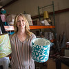 Joli Sanders at the warehouse where Focus at Home stores furnishings in Oklahoma CIty, OK.