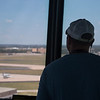 The air traffic controll tower at Will Rogers World Airport in Oklahoma City.