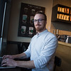 Matt Chandler, with Code for OKC, working at Starbucks located at 5920 SW 4th Terrace in Oklahoma CIty.