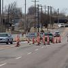 Road construction on NW 36th Street and Santa Fe Ave in Oklahoma City, OK.