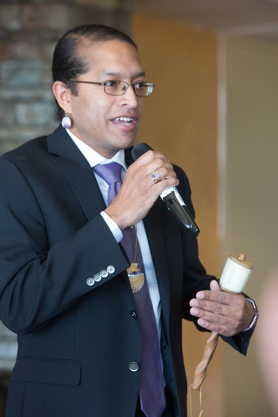 Tobias Vanderhoop, formr chairman Wampanoag Tribe of Gay Head (Aquinnah), was the keynote speaker at the American Indian Chamber of Commerce's luncheon, held Wednesday at Remingonton Park in Oklahoma City, OK.