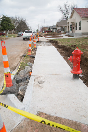 The City of Oklahoma City is replacing sidewalks on 15th Street east of Blackwelder Ave.