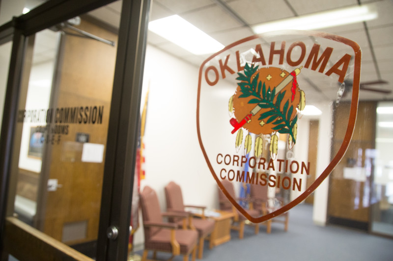 The Oklahoma Corporation Commision located at 2101 N Lincoln Blvd in Oklahoma City.