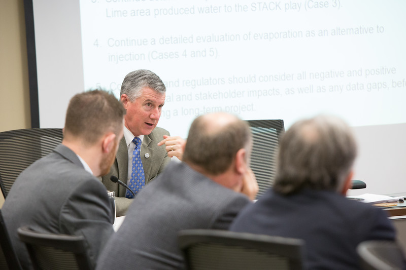 The Oklahoma Water Resource Board held a meeting to discuss how to deal with waste water from energy production in the state of Oklahoma.