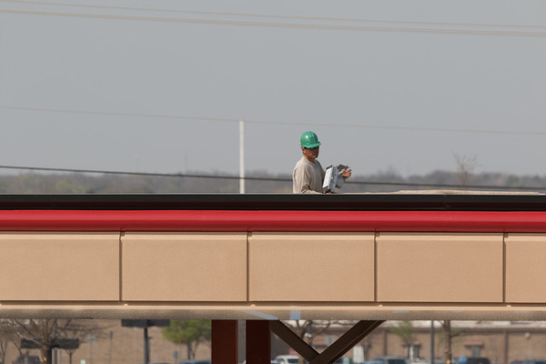 Construction of the a new On Cue at I-35 and 15th Street in Edmond, OK.