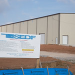 The Shawnee Economic Development Foundation built a building for industrial us on spec. The building is located on Industrial Drive and Wolverine Road in Shawnee, OK.