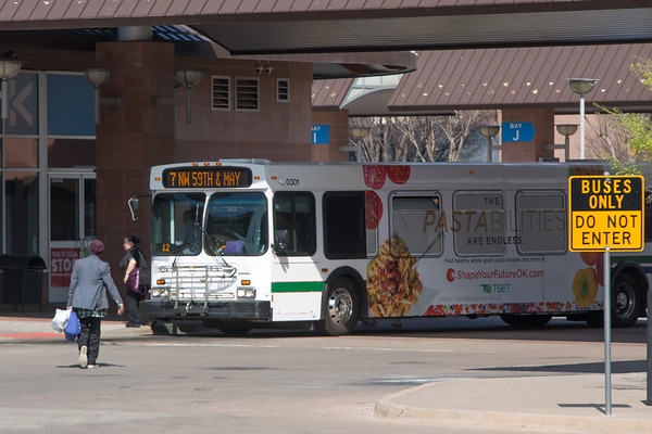 The Oklahoma CIty Transit Center located at 420 NW 5th Street.