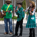 The Myrid Gardens in downtown Oklahoma CItycelebrated St Patrick's day with live music, food trucks and activities for kids.