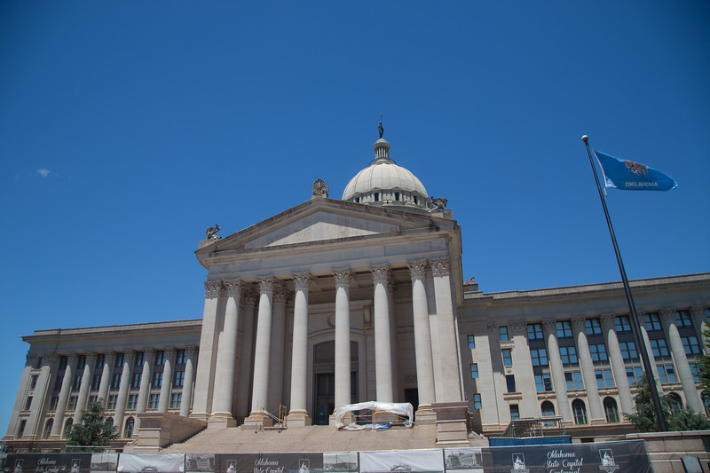 The Oklahoma State Capitol in Oklahoma City, OK.