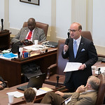 Rep. Scott Inman speaking during the last day of the 2017 legislative session at the Oklahoma State Capitol.