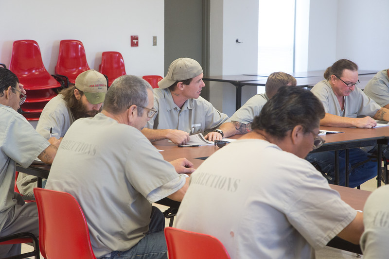 Inmates participatein a class at the Clara Waters Community Correction Center in Oklahoma City, OK.