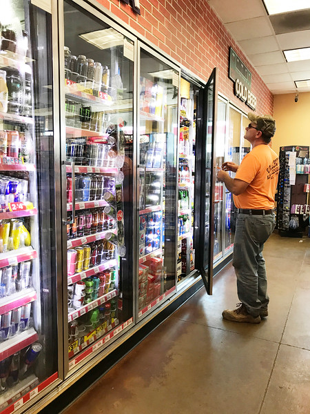 A man buying beer at Circle K located at 601 E Reno Ave in Oklahoma City.