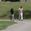 Dontae Sewell and JQ Williams walk at the wellness center at Oklahoma City County Health Department located at 2600 NE 63rd Street in Oklahoma City, OK.
