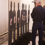 Cutouts on display at the Oklahoma State Capitol repersent workers killed on the job.