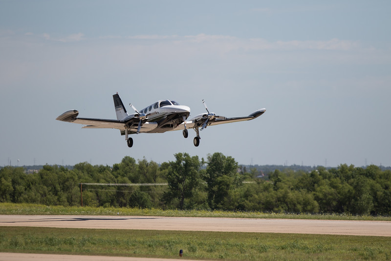 Doug Durning takes from Sundance Air Park in Yukon, OK to pick up passengers from Lubbock, TX.