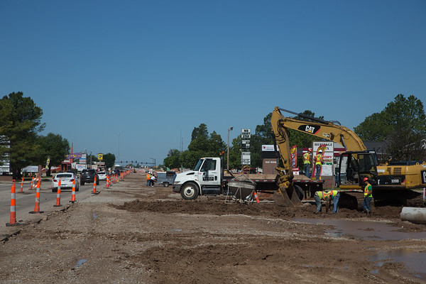 Construction along Lindsey Ave in Norman, OK.