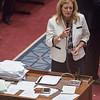 Oklahoma State Senator Kim David during debate of HB2360  on the floor of the Oklahoma State Senate.