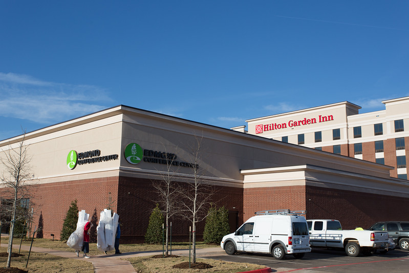 The Hilton Garden Inn and Edmond Conferance Center located at Covell and Sooner Road in Edmond, OK.