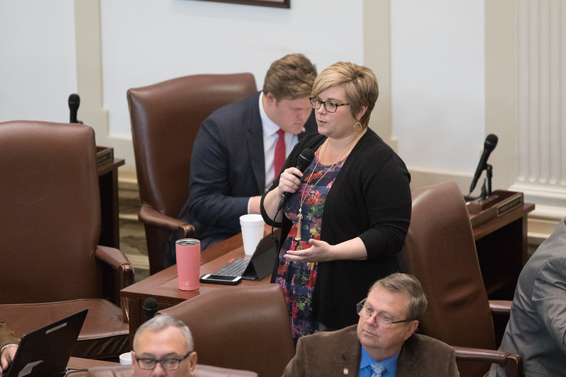 Rep Emily Virgin question a bill that's up for a vote at the Oklahoma State House of Repersenitives.