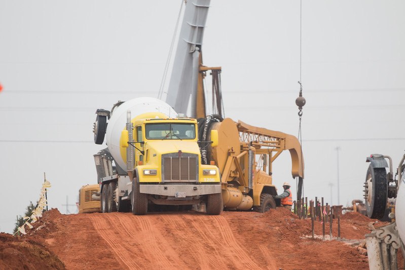 Construction of I-235 between I-44 and NW 36th St. in Oklahoma City, OK.