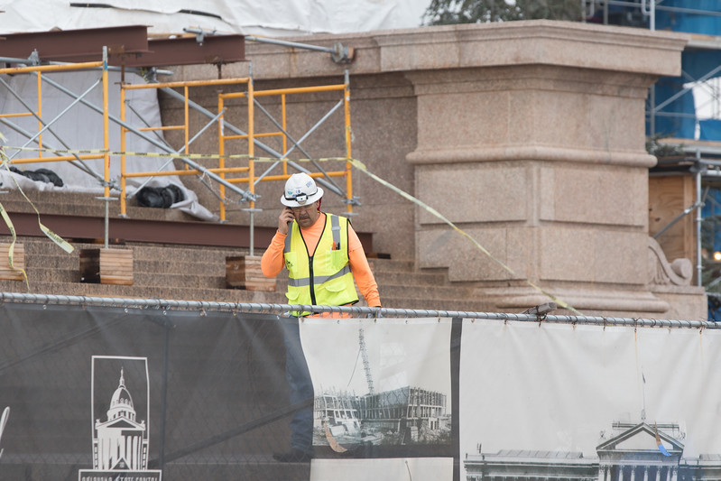 Construction at the Oklahoma State Capitol is being paid for by bonds sold by the state.