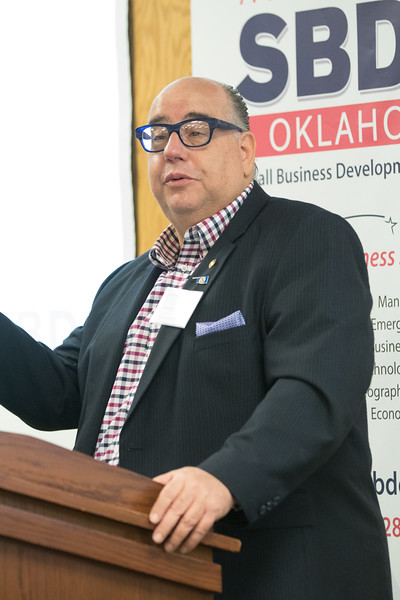 José Izquierdo-Encarnación, former Secretary of State for the Commonwealth of Puerto Rico, spoke Tuesday at a workshop in Stillwater, OK about how Oklahoma Business owners can bid on contracts to rebuild the island nation.