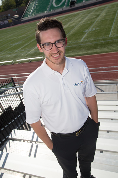 Collin Gentry is an athletic trainer with Mercy Clinic. A pilot program by the NFL helps pay for full time athletic trainers at four Oklahoma City high schools.