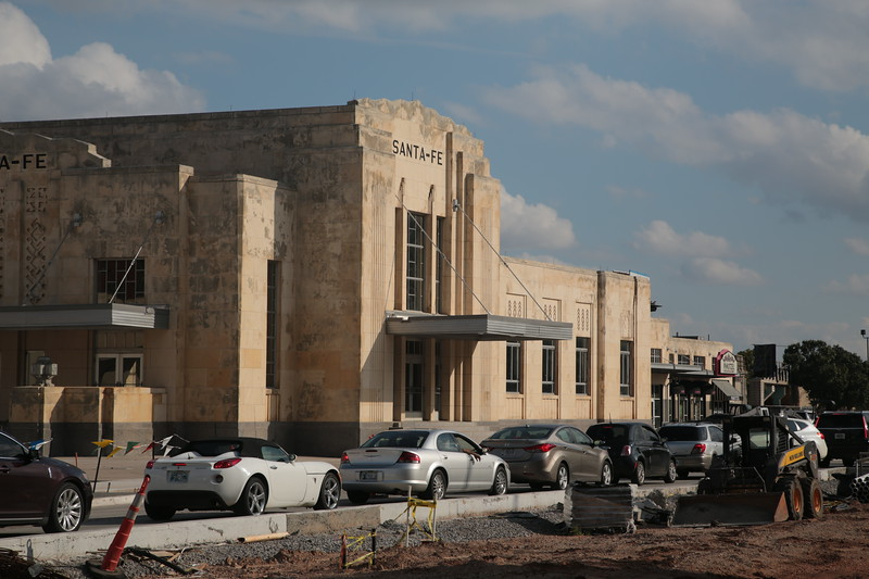 The Santa Fe Train Station located at 100 South E.K. Gaylord Blvd. in Oklahoma City.