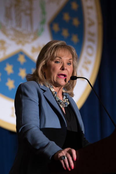 Mary Fallin speaking at the Governer's Annual Energy Conferance held at the Cox Convention Center in downtown Oklahoma City.
