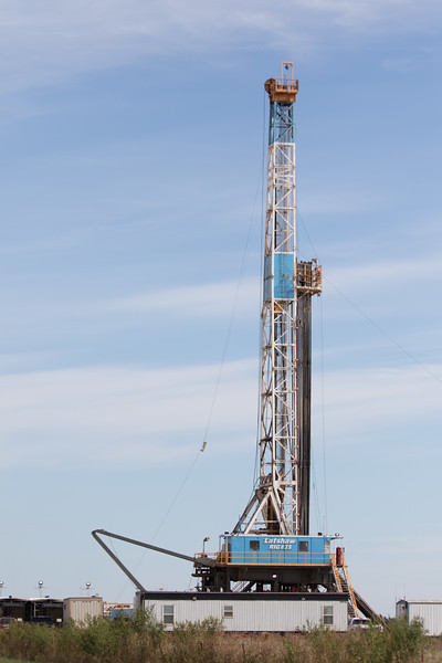 A rig in southwest Logan County, OK operated  by Latshaw Drilling.