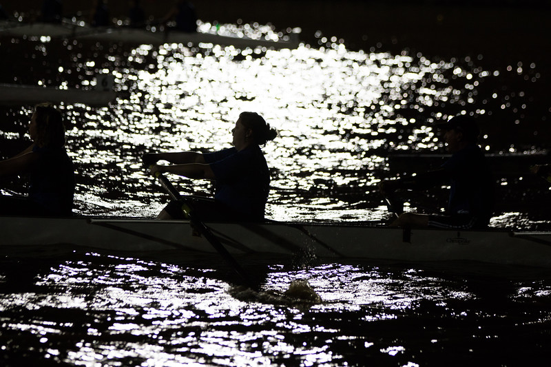 Rowing team finals at the Oklahoma River in the Boathouse District of Oklahoma City.