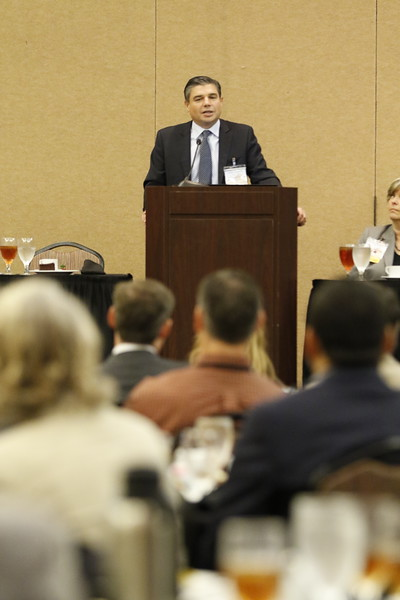 Lorenzo Simonelli,  CEO of Baker Hughes, a GE company, spoke at the annual American Association of Petroleum Geologists conference help in Oklahoma City.